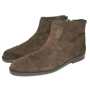 Luca Valentini Mens Boots Brown Size 44 Wingtip
